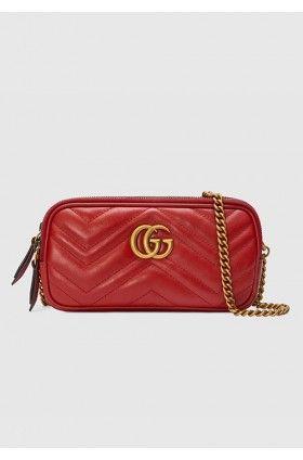 کیف دوشی مینی قرمز گوچی زنانه