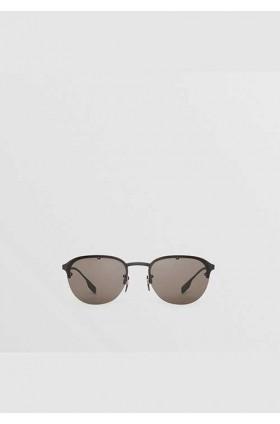 عینک آفتابی با فریم گرد مردانه بربری