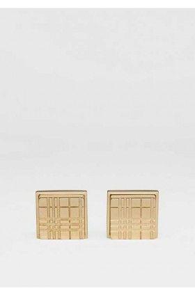 دکمه سردست مربعی طلایی بربری