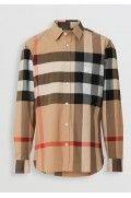 پیراهن چهارخانه شتری مردانه بربری-3