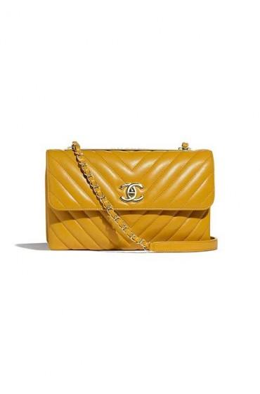 کیف مجلسی زرد شنل
